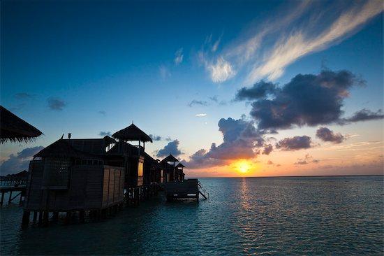 Sunrise at Soneva Gili Resort, Lankanfushi Island, North Male Atoll, Maldives Stock Photo - Premium Rights-Managed, Artist: R. Ian Lloyd, Image code: 700-03244234