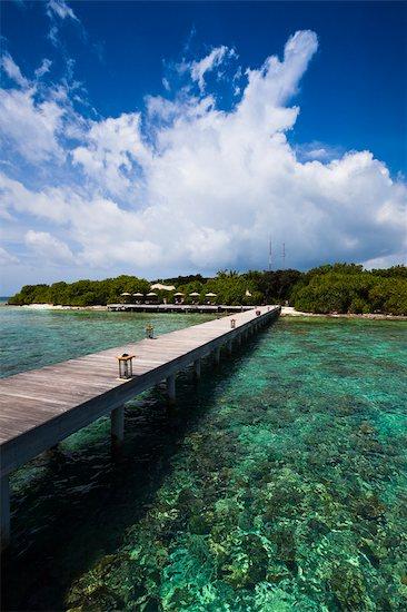 Jetty at Banyan Tree Madivaru, Alif Alif Atoll, Maldives Stock Photo - Premium Rights-Managed, Artist: R. Ian Lloyd, Image code: 700-03244278