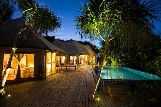 Tent Villa at Banyan Tree Madivaru, Alif Alif Atoll, Maldives Stock Photo - Premium Rights-Managed, Artist: R. Ian Lloyd, Image code: 700-03244286