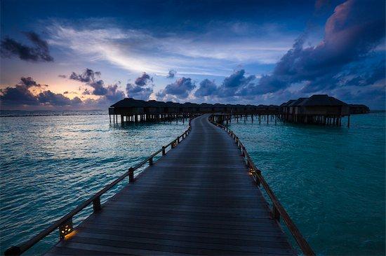 Beach House at Manafaru, Haa Alifu Atoll, Maldives Stock Photo - Premium Rights-Managed, Artist: R. Ian Lloyd, Image code: 700-03244294