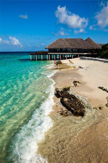 Beach House at Manafaru, Haa Alifu Atoll, Maldives Stock Photo - Premium Rights-Managed, Artist: R. Ian Lloyd, Image code: 700-03244290