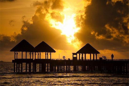 Beach House at Manafaru, Haa Alifu Atoll, Maldives Stock Photo - Premium Rights-Managed, Artist: R. Ian Lloyd, Image code: 700-03244293