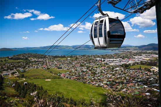 Gondola on Mountt Ngongotaha, Rotorua Region, North Island, New Zealand Stock Photo - Premium Rights-Managed, Artist: R. Ian Lloyd, Image code: 700-03333621