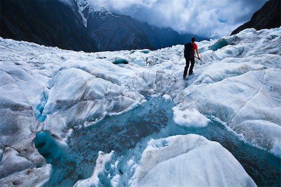 Woman Heli-Hiking, Franz Josef Glacier, South Island, New Zealand Stock Photo - Premium Rights-Managed, Artist: R. Ian Lloyd, Image code: 700-03333680