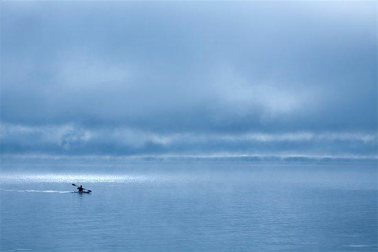 Kayaker on Long Lake, Naples, Maine, USA Stock Photo - Premium Rights-Managed, Artist: Michael Eudenbach, Image code: 700-03392468