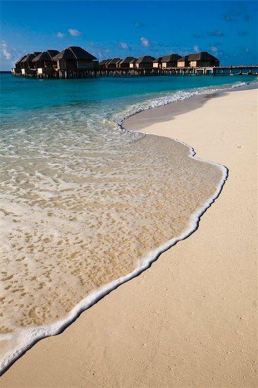 Wharf and Beach Huts, The Beach House at Manafaru, Maldives Stock Photo - Premium Rights-Managed, Artist: R. Ian Lloyd, Image code: 700-03403855
