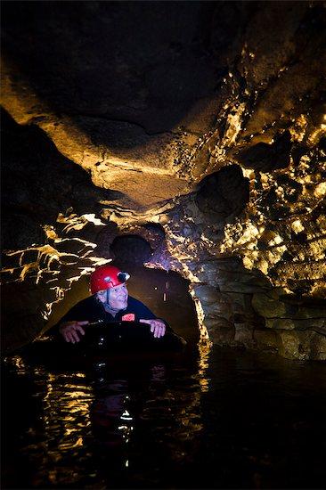 Tourist Black Water Rafting, Waitomo Caves, North Island, New Zealand Stock Photo - Premium Rights-Managed, Artist: R. Ian Lloyd, Image code: 700-03403865