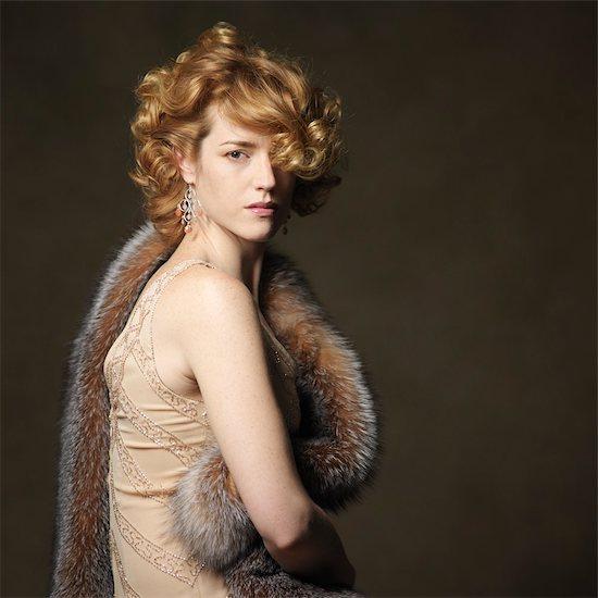 Portrait of Woman Stock Photo - Premium Rights-Managed, Artist: Natasha Nicholson, Image code: 700-03586823