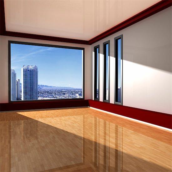 Interior of Empty Apartment Stock Photo - Premium Rights-Managed, Artist: Huber-Starke, Image code: 700-03615614