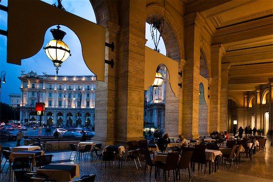Piazza della Repubblica, Rome, Italy Stock Photo - Premium Rights-Managed, Artist: R. Ian Lloyd, Image code: 700-03639232