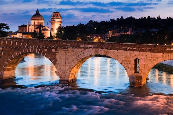 Ponte Pietra, Verona, Veneto, Italy Stock Photo - Premium Rights-Managed, Artist: R. Ian Lloyd, Image code: 700-03644452