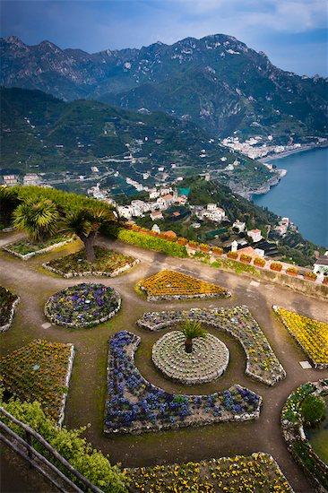 Garden at Villa Rufulo, Ravello, Campania, Italy Stock Photo - Premium Rights-Managed, Artist: R. Ian Lloyd, Image code: 700-03641092
