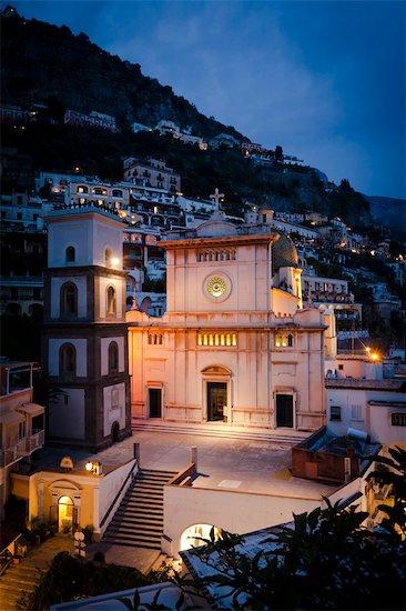 Positano at Night, Campania, Italy Stock Photo - Premium Rights-Managed, Artist: R. Ian Lloyd, Image code: 700-03641114