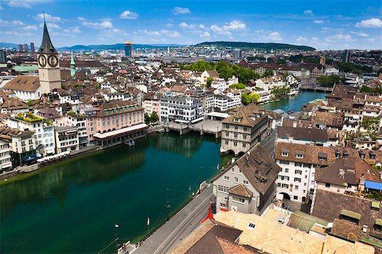 Cityscape, Zurich, Switzerland Stock Photo - Premium Rights-Managed, Artist: R. Ian Lloyd, Image code: 700-03654626