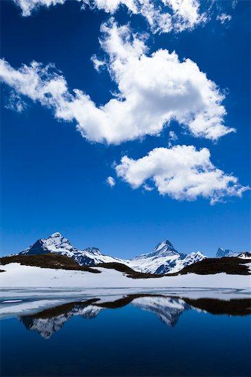 Lake Bachalpsee, Jungfrau Region, Bernese Alps, Switzerland Stock Photo - Premium Rights-Managed, Artist: R. Ian Lloyd, Image code: 700-03654636