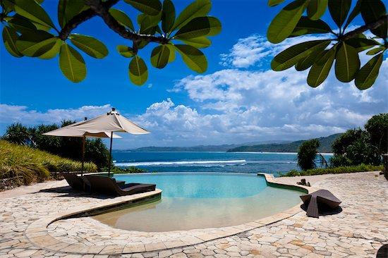 Swimming Pool at Nihiwatu Resort, Sumba, Lesser Sunda Islands, Indonesia Stock Photo - Premium Rights-Managed, Artist: R. Ian Lloyd, Image code: 700-03665776