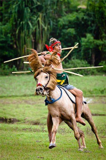 Pasola Warrior, Sumba, Indonesia Stock Photo - Premium Rights-Managed, Artist: R. Ian Lloyd, Image code: 700-03665828