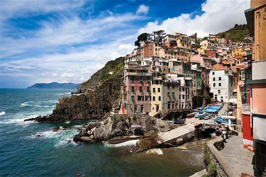 Riomaggiore, Cinque Terre, Province of La Spezia, Ligurian Coast, Italy Stock Photo - Premium Rights-Managed, Artist: R. Ian Lloyd, Image code: 700-03660061