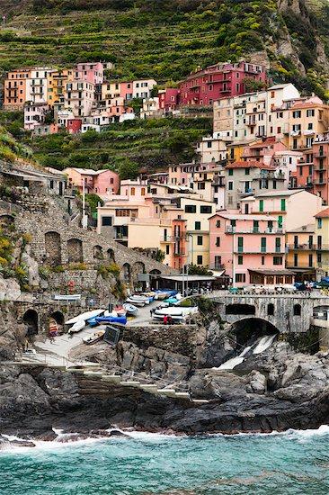Manarola, Riomaggiore, Cinque Terre, Province of La Spezia, Ligurian Coast, Italy Stock Photo - Premium Rights-Managed, Artist: R. Ian Lloyd, Image code: 700-03660073