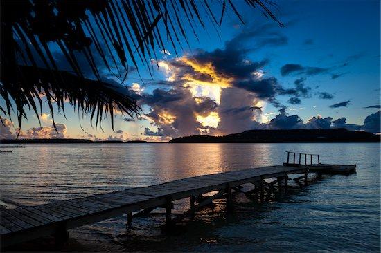 Dock and Clouds at Sunset, Vava'u, Kingdom of Tonga Stock Photo - Premium Rights-Managed, Artist: R. Ian Lloyd, Image code: 700-03814212