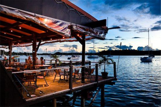 Restaurant and Marina, Neiafu, Vava'u, Kingdom of Tonga Stock Photo - Premium Rights-Managed, Artist: R. Ian Lloyd, Image code: 700-03814234