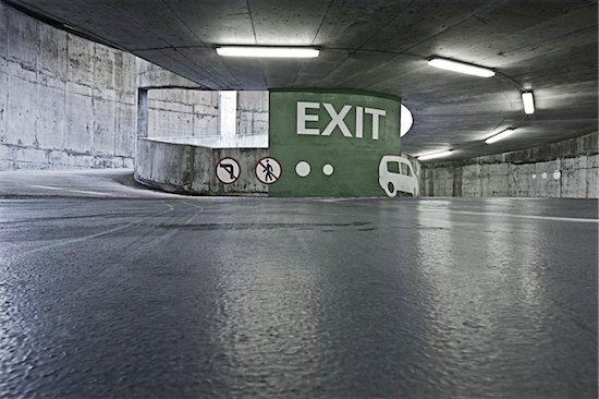 Interior of Parking Garage Stock Photo - Premium Rights-Managed, Artist: Matt Brasier, Image code: 700-03849378