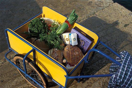Cart full of shopping Stock Photo - Premium Rights-Managed, Artist: Photocuisine, Image code: 825-02307773