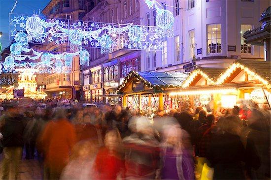 New Street and Christmas Market, City Centre, Birmingham, West Midlands, England, United Kingdom, Europe Stock Photo - Premium Rights-Managed, Artist: robertharding, Image code: 841-05848333