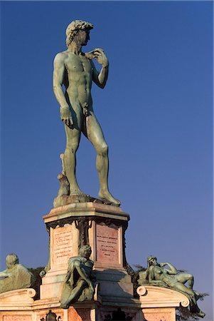 a description of the bronze statue of david