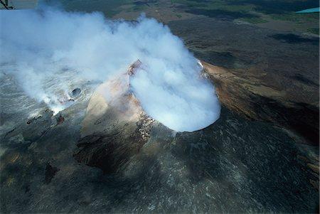 Smoke Volcano Not Lava Erupting Explosion