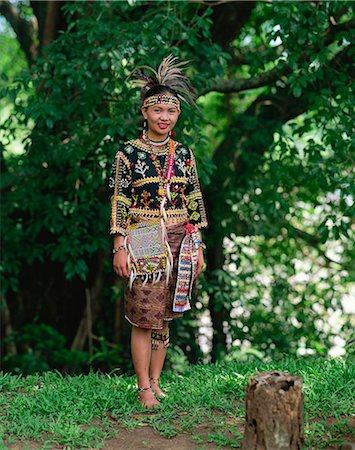 Portrait Traditional Clothing Indigenous Filipino Stock Photos