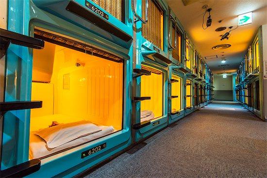 Capsule Hotel in Shinjuku district, Tokyo, Japan Stock Photo - Premium Rights-Managed, Artist: AWL Images, Image code: 862-07910166