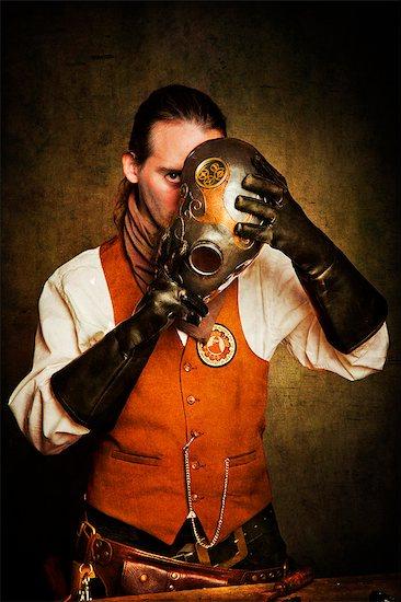 Worker Steampunk Stock Photo - Premium Rights-Managed, Artist: Photononstop, Image code: 877-07460465