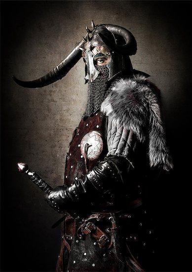 Viking in studio Stock Photo - Premium Rights-Managed, Artist: Photononstop, Image code: 877-07460486