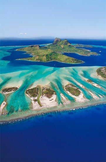 Bora Bora (aerial), Tahiti Stock Photo - Premium Rights-Managed, Artist: Mint Images, Image code: 878-07590697